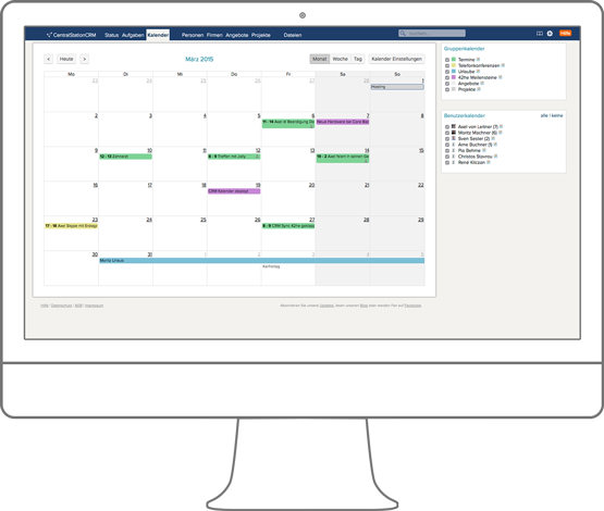 Integration der CRM Software mit dem Apple Kalender